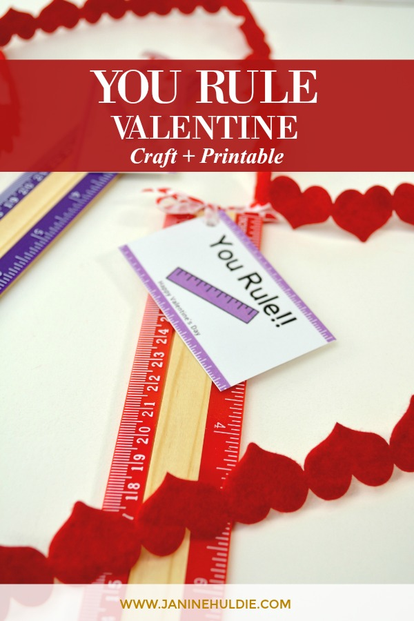 image about Printable Valentine Craft identified as Your self Rule Valentine Reward Craft For Lecturers - COAM