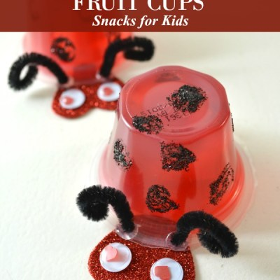 Ladybug Fruit Cups Snack for Kids
