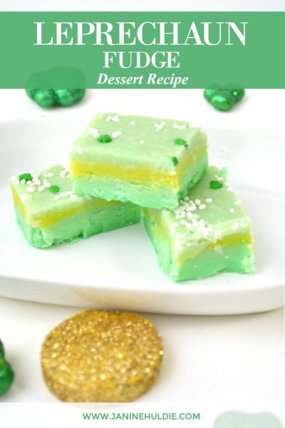 Leprechaun Fudge Dessert Recipe Featured Image