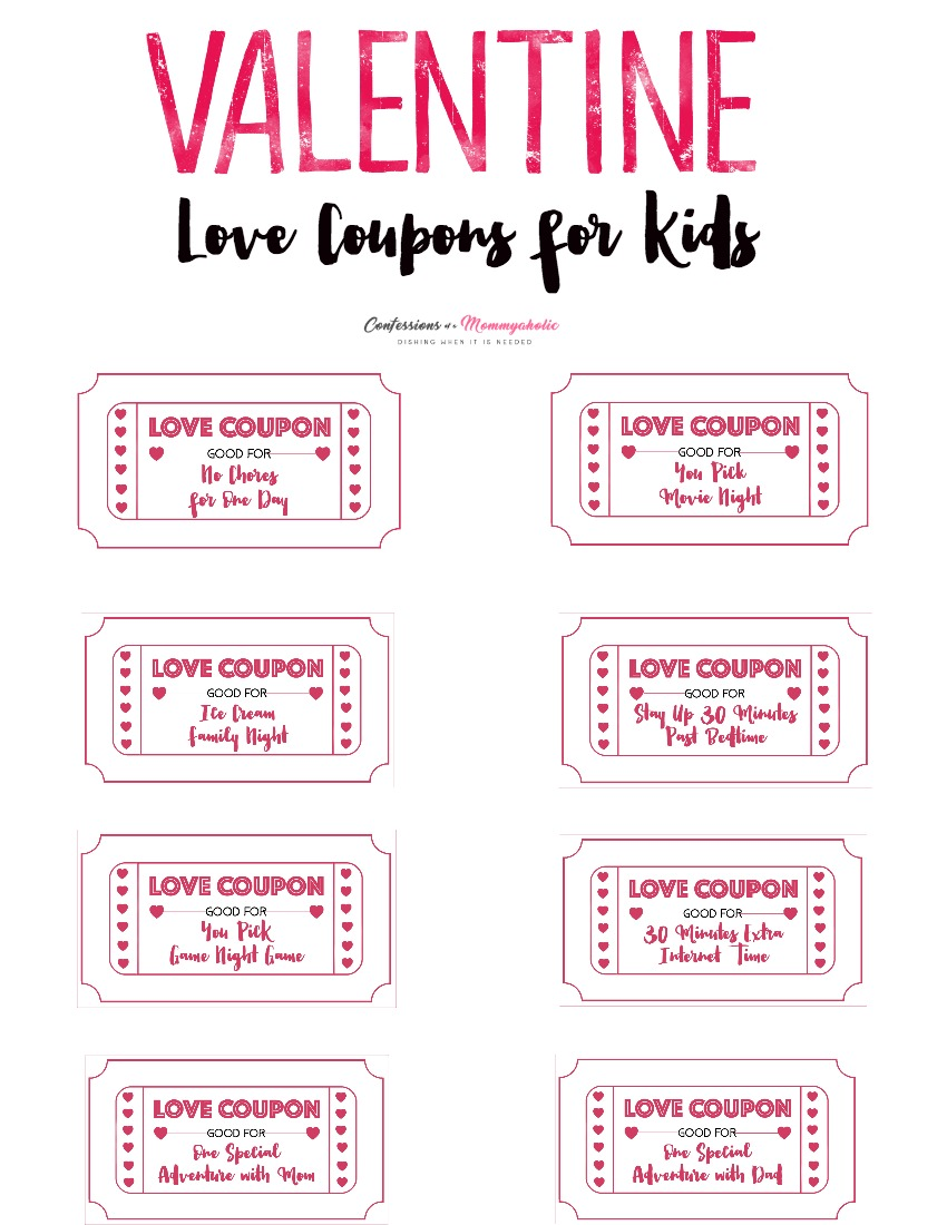 photograph regarding Printable Coupons for Kids referred to as Children Appreciate Coupon Printable - This Mothers Confessions