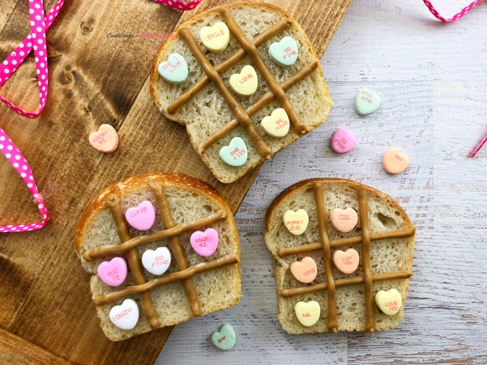 Valentine Tic Tac Toe Bread Recipe Horizontal