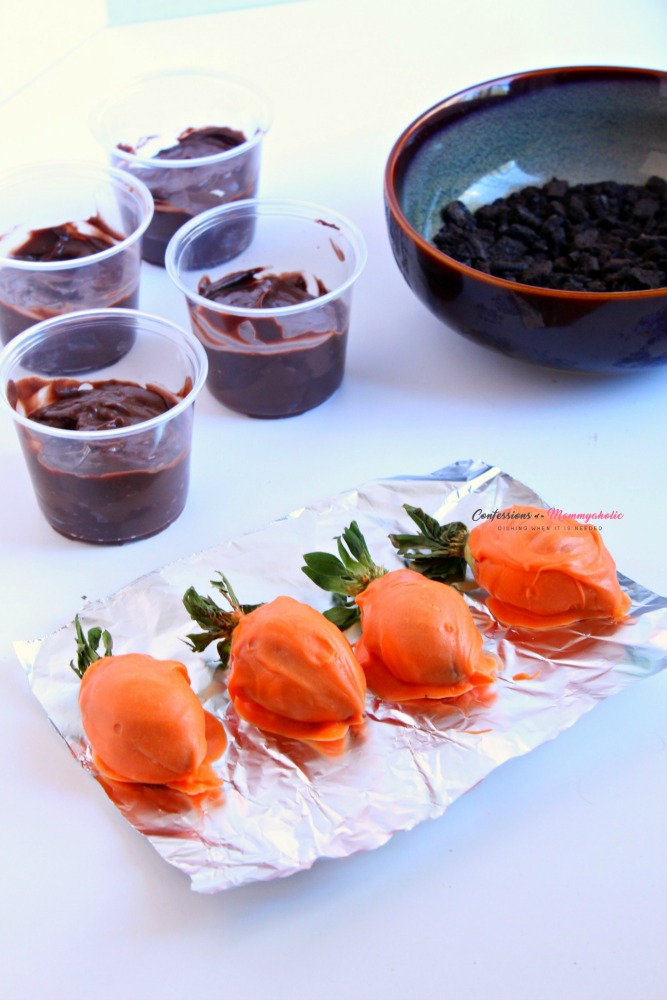 Carrot Dirt Pudding Cups Process 1