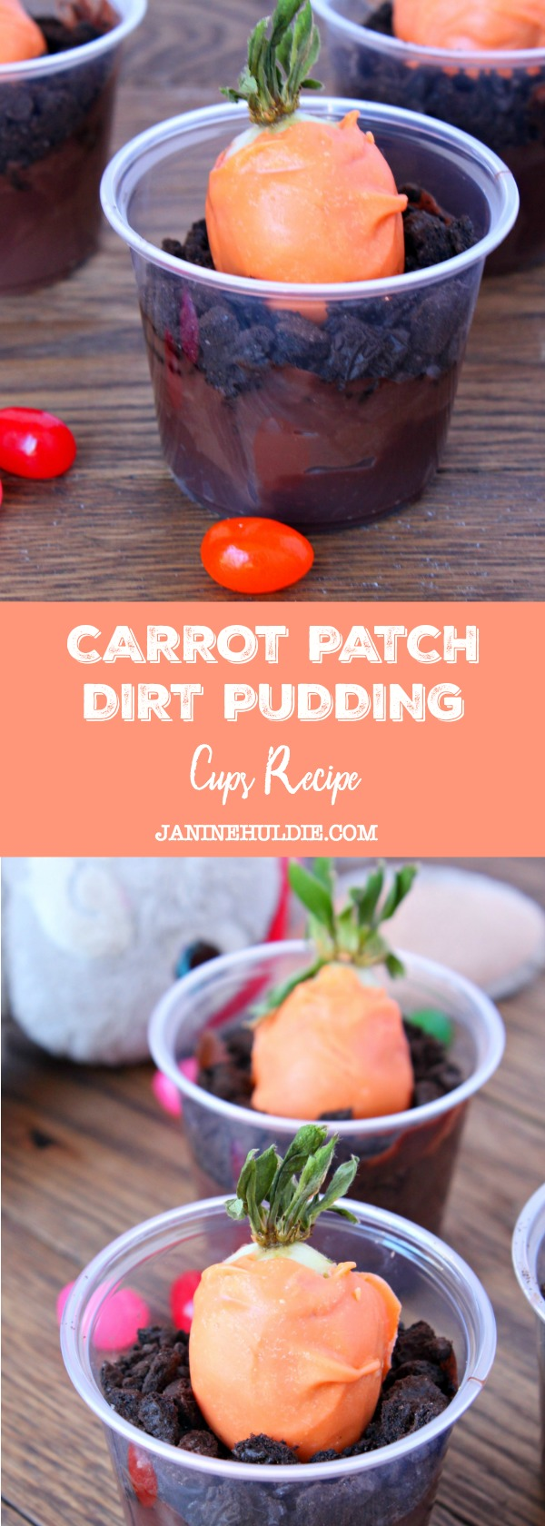 Carrot Patch Dirt Pudding Cups Recipe