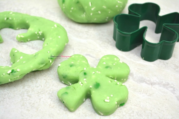 St. Patrick's Day Green Edible Jello Playdough For Kids