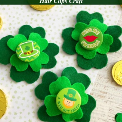 DIY Four Leaf Clover Hair Clips for Girls