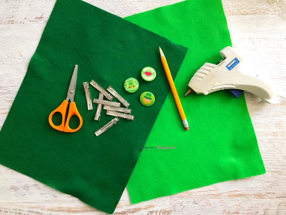 Four Leaf Clover Hair Clips Supplies