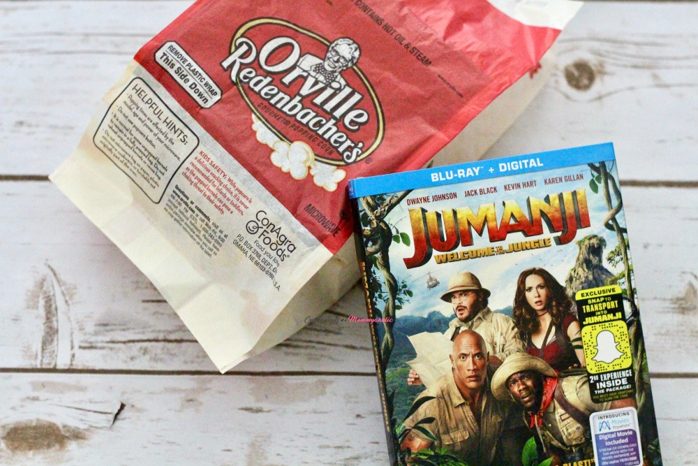 Jumanji DVD and Popcorn Bag