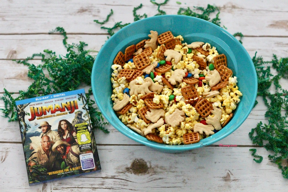 Jumanji Popcorn Mix and DVD