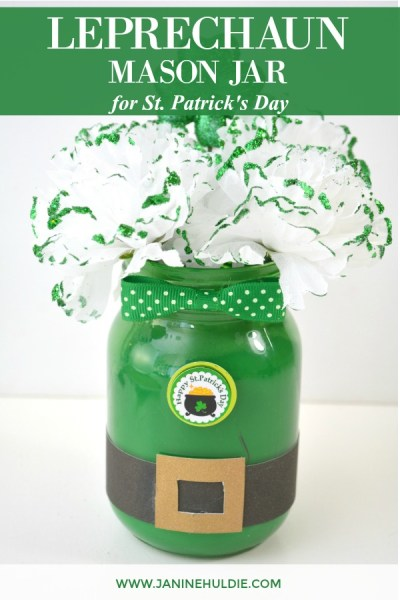 Leprechaun Mason Jar for St. Patrick's Day Featured Image