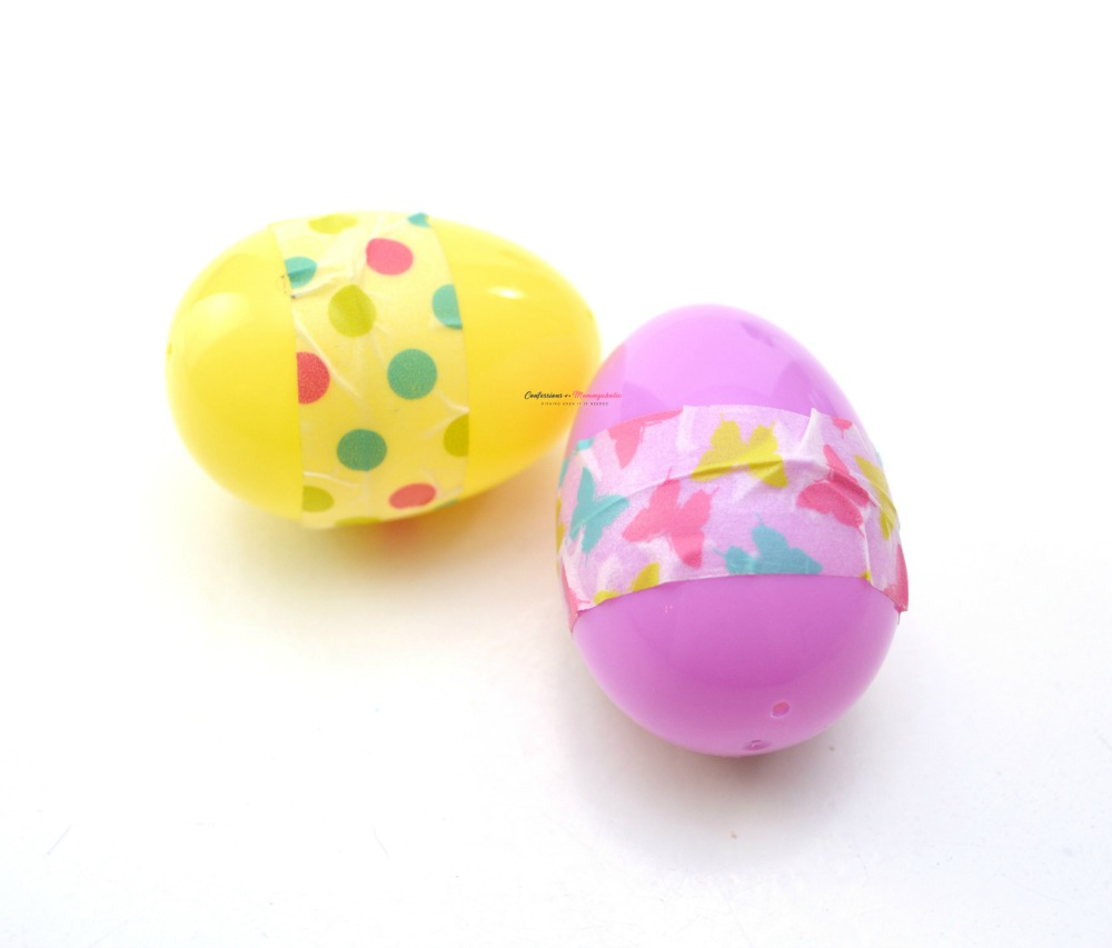 Washi Tape Easter Egg Maracas Craft for Kids Step 3