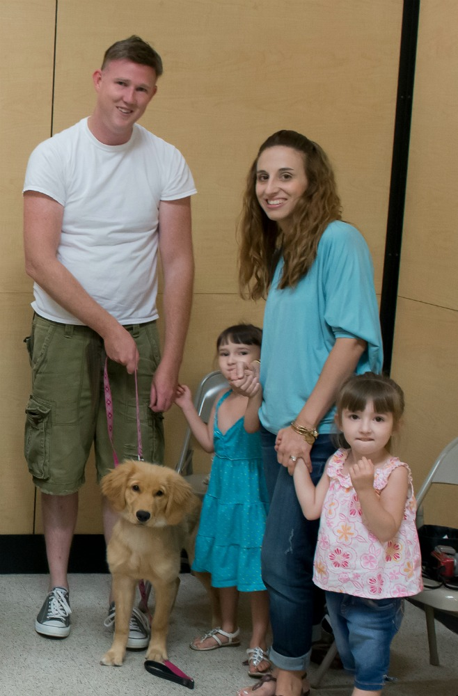 Elsa as a puppy with us at Dog Training Classes