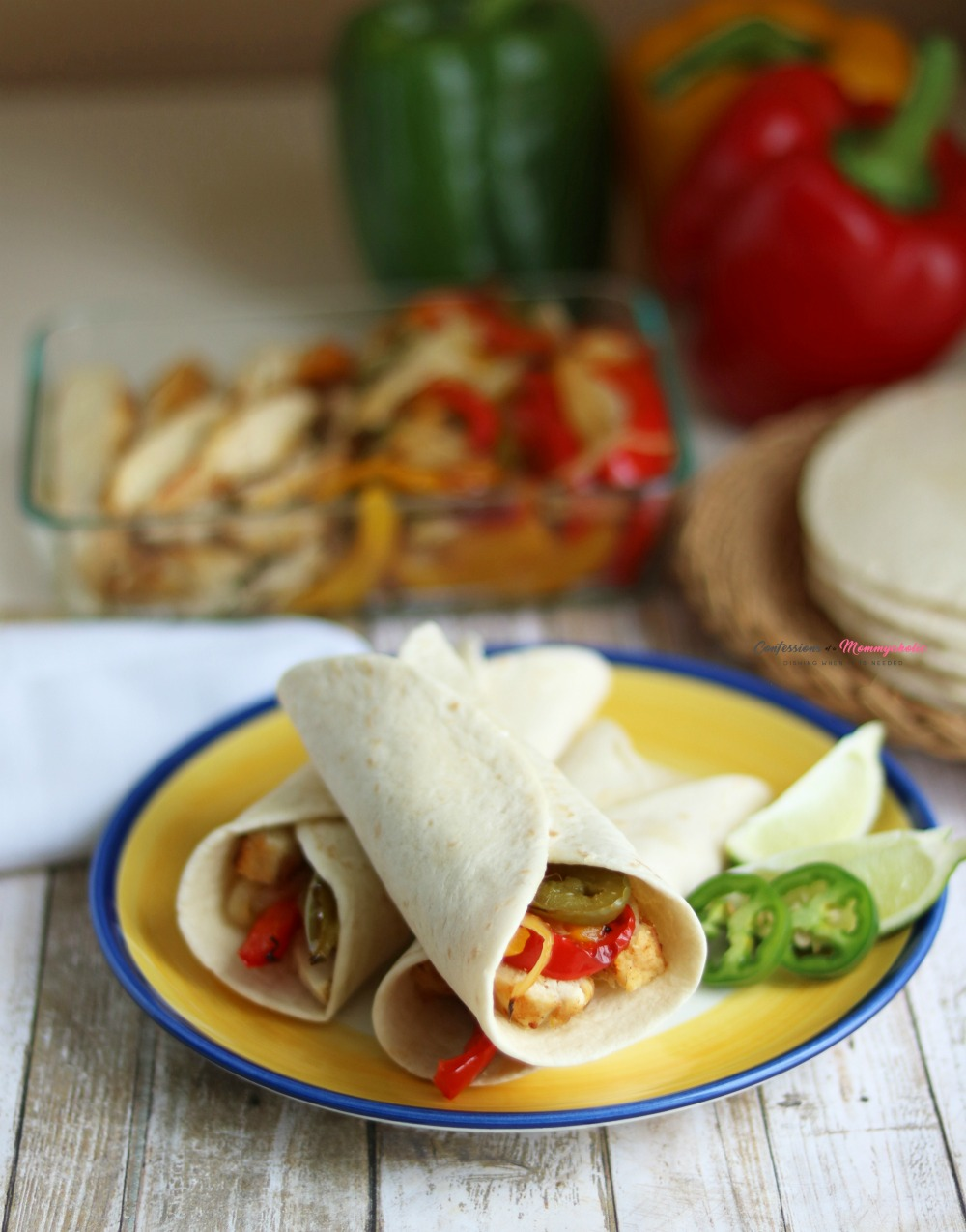 Instant Pot Tequila and Lime Chicken Fajitas Recipe Vertical 1
