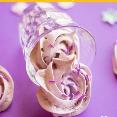 Purple Flower Meringue Cookies Recipe