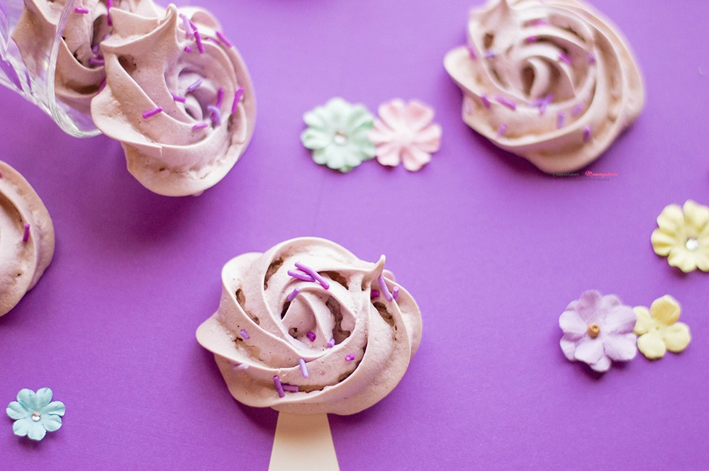 Purple Flower Meringue Cookies Recipe Horizontal 1