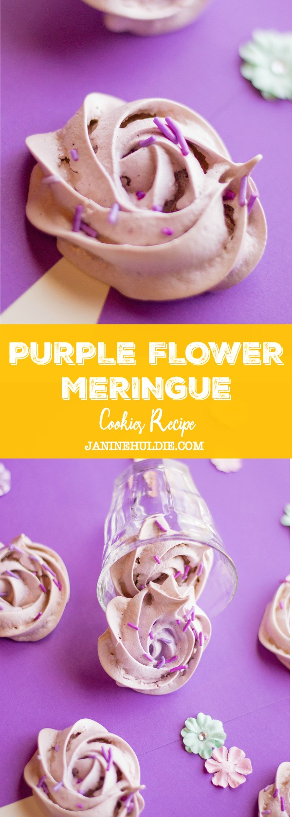 Purple Flower Meringue Cookies Recipe