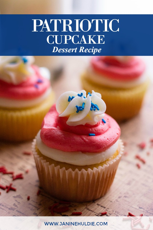 Patriotic Cupcakes Dessert Recipe Featured Image