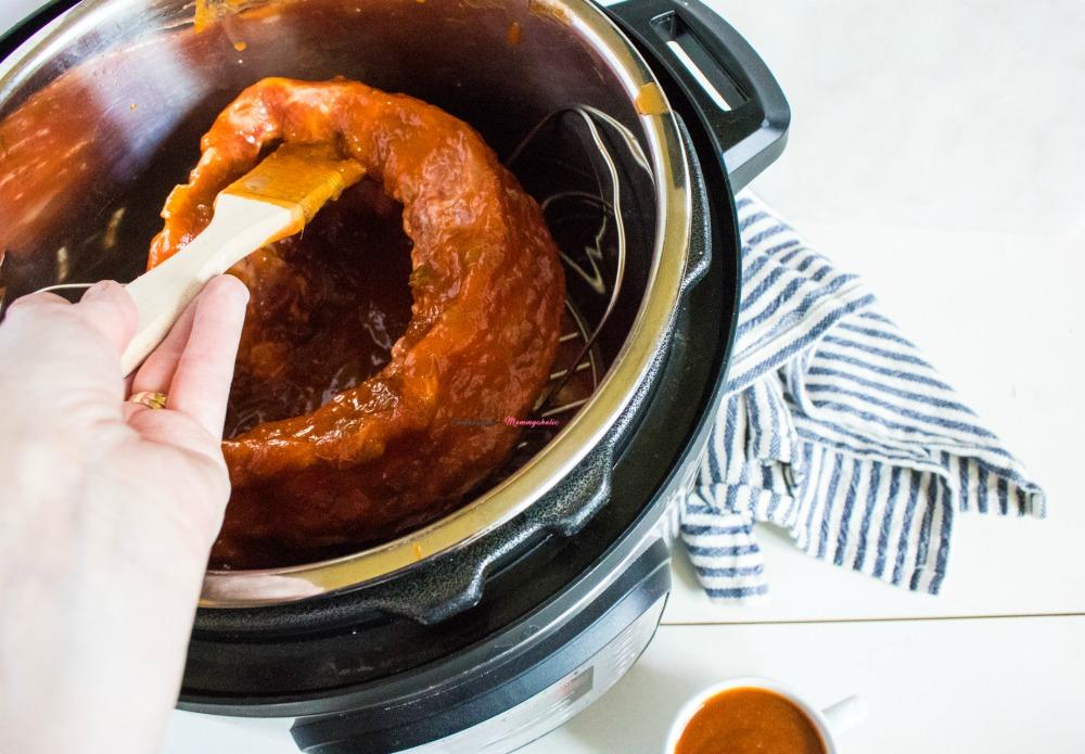 Fall of the Bone BBQ Ribs Instant Pot Recipe Process 1