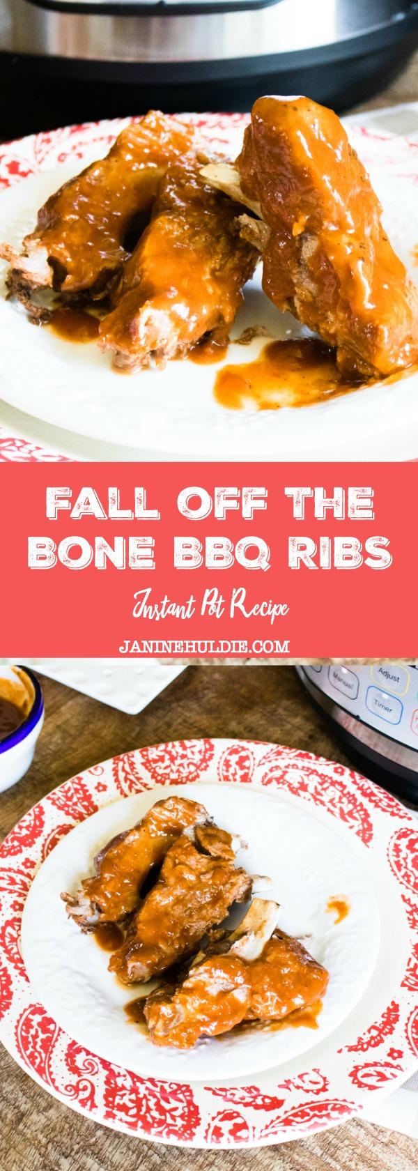 Fall of the Bone BBQ Ribs Instant Pot Recipe