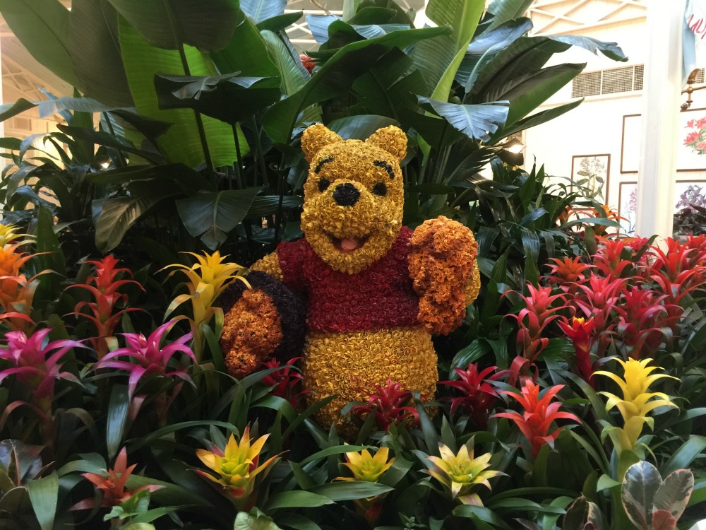 Winnie the Pooh Flower Sculpture The Crystal Palace