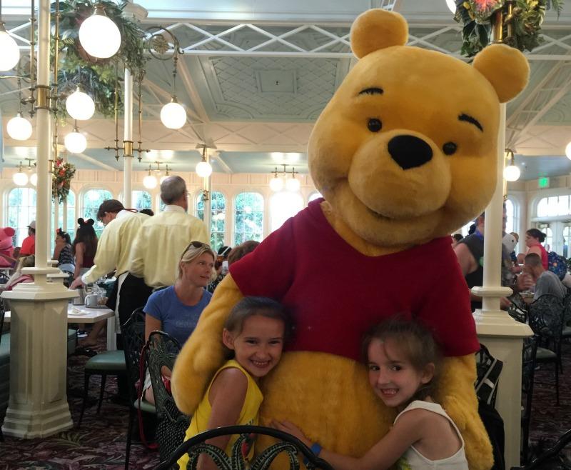 Winnie the Pooh at Disney World Crystal Palace