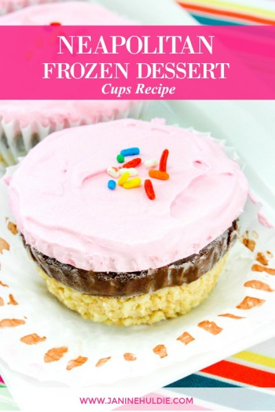 Neapolitan Frozen Dessert Cups Recipe Featured Image