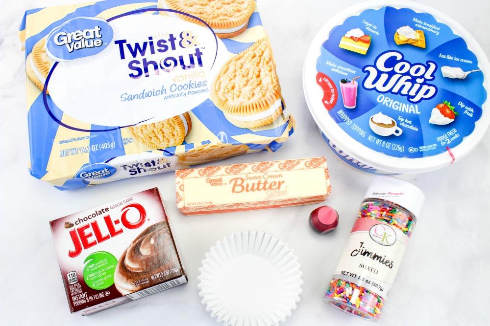 Neapolitan Frozen Dessert Cups Recipe Ingredients