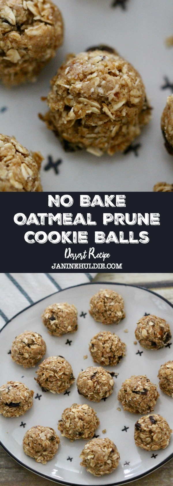 No Bake Oatmeal Prune Cookie Balls Recipe
