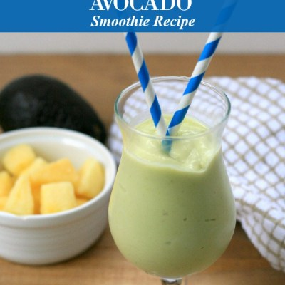 Simply Sweet Pineapple Avocado Smoothie Drink Recipe