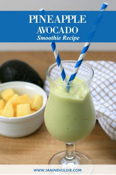 Pineapple Avocado Smoothie Recipe Featured Image