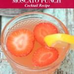 Strawberry Lemonade Moscato Punch Cocktail Recipe