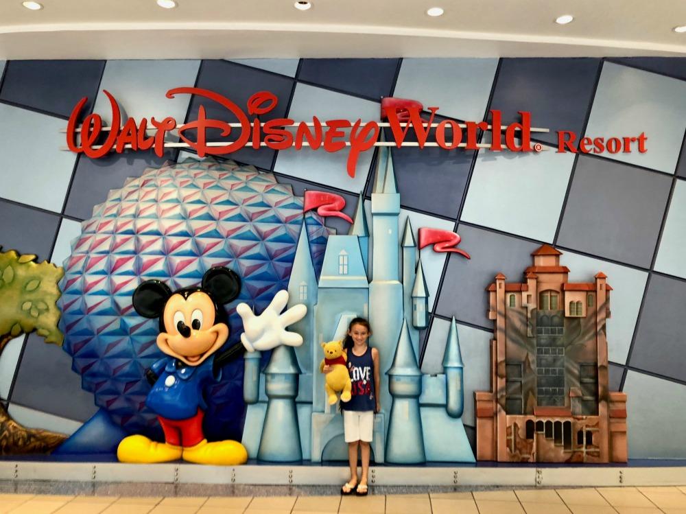 MCO Airport Walt Disney World Resort Sign
