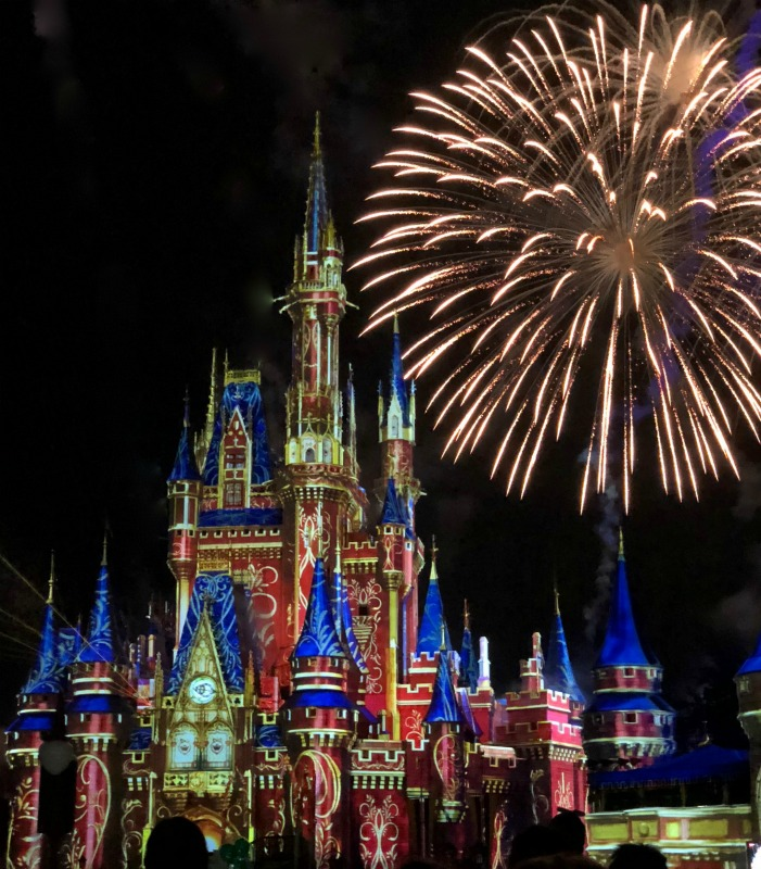 Magic Kingdom Cinderella Castle Fireworks