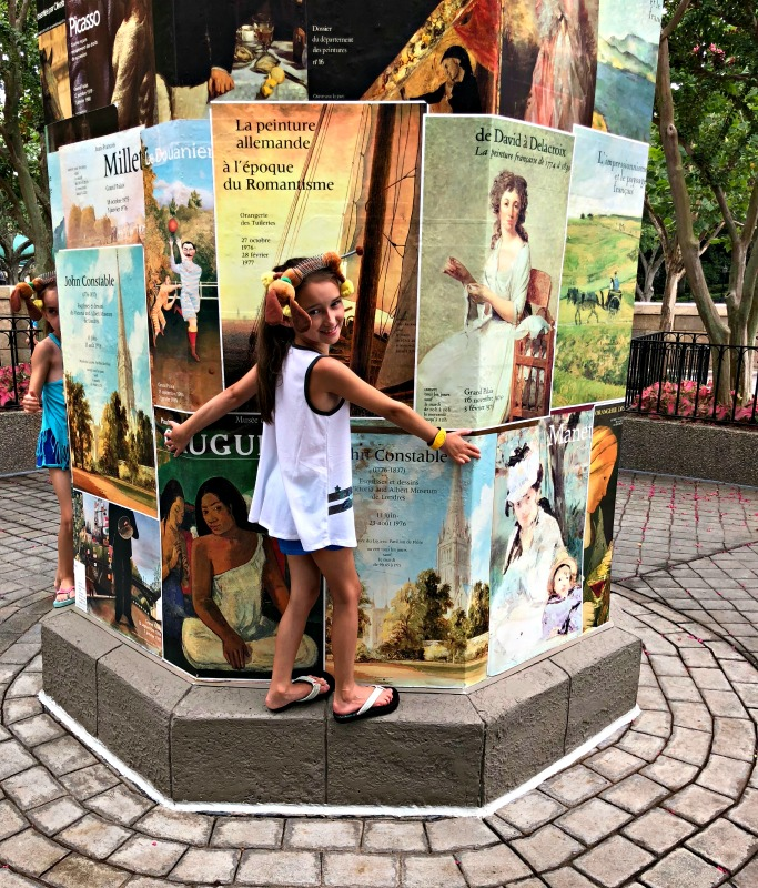 Modeling in Walt Disney Epcot World Showcase in France