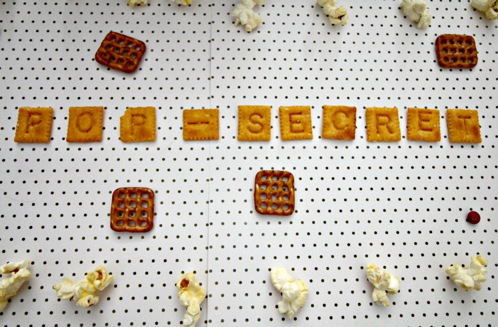 Pop Secret Alphabet Crackers Spelled Out