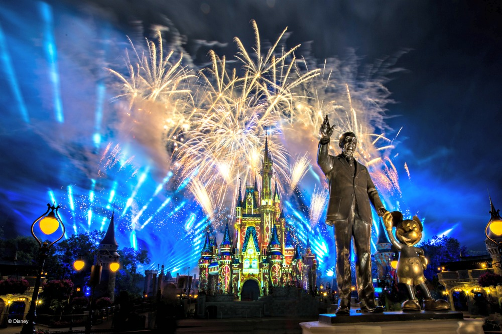 Walt Disney Magic Kingdom Happily Ever Fireworks and Illuminations in front of Cinderella Castle