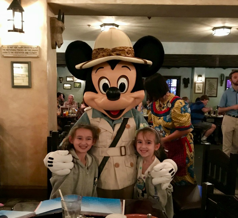 Animal Kingdom Tusker House with Mickey Mouse