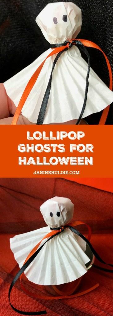 Lollipop Ghosts for Halloween Tutorial