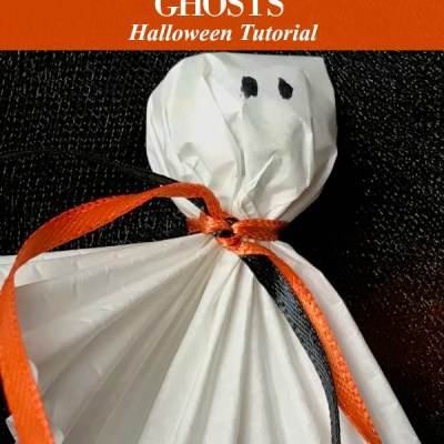 Lollipop Ghosts Tutorial for Halloween