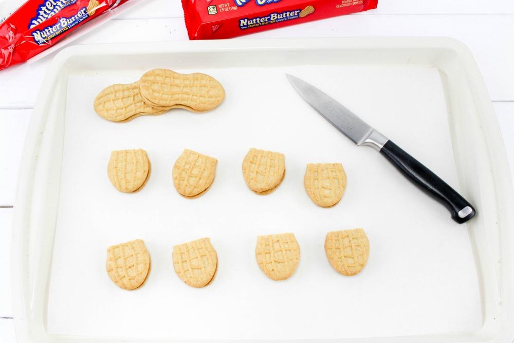 Nutter Butter Acorns Cookie Treats In Process 1