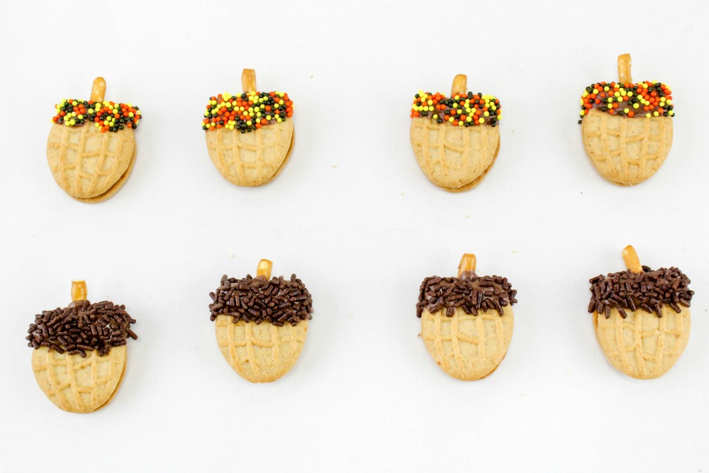 Nutter Butter Acorns Cookie Treats In Process 3