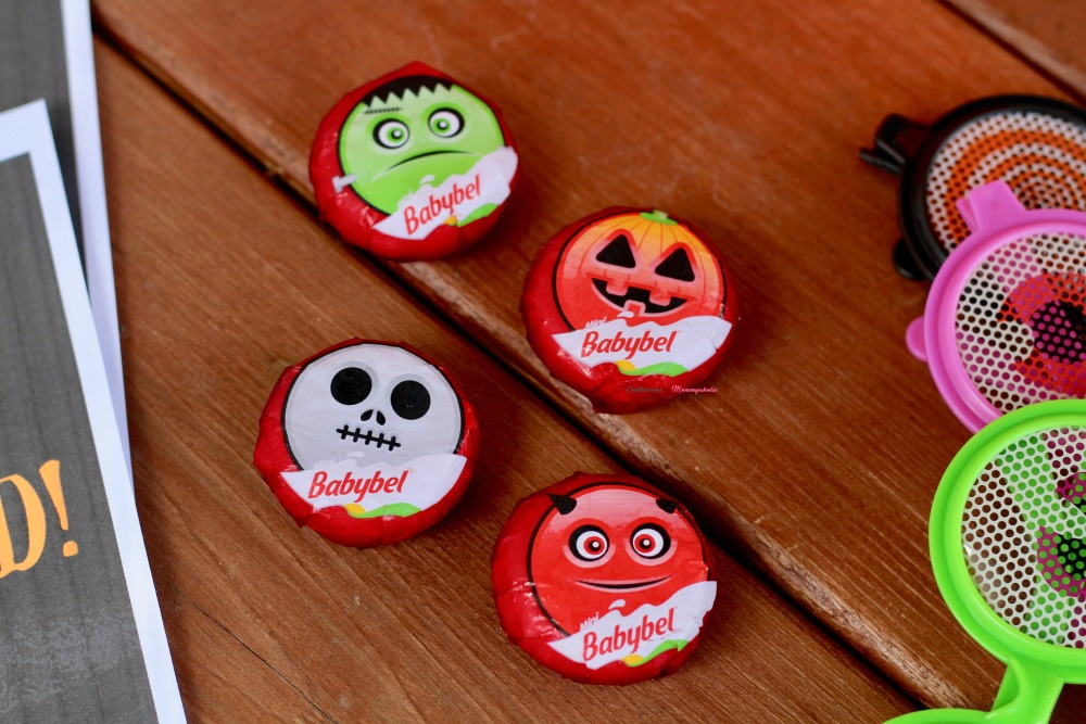 Closeup of BabyBel Halloween Wrapped Cheese