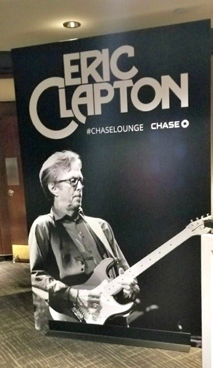 Eric Clapton Chase Sign at MSG