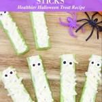 Healthier Halloween Mummy Celery Sticks Recipe Tutorial