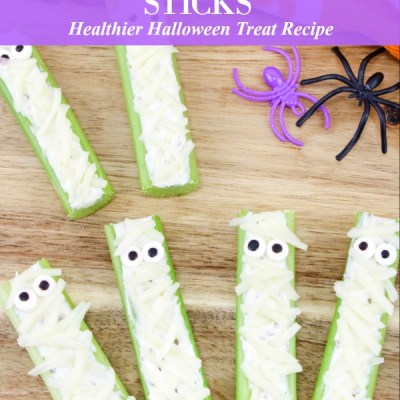 Mummy Celery Sticks Recipe Featured Image