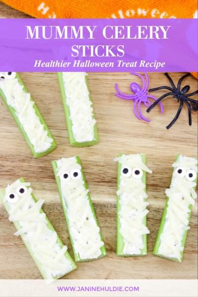 Mummy Celery Sticks Recipe Featured Image