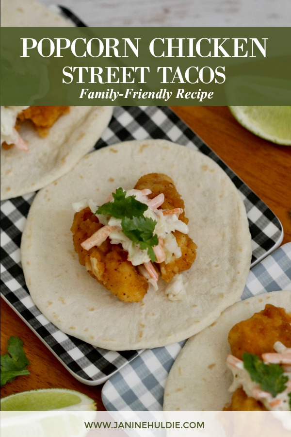 Popcorn Chicken Street Tacos Recipe Featured Image