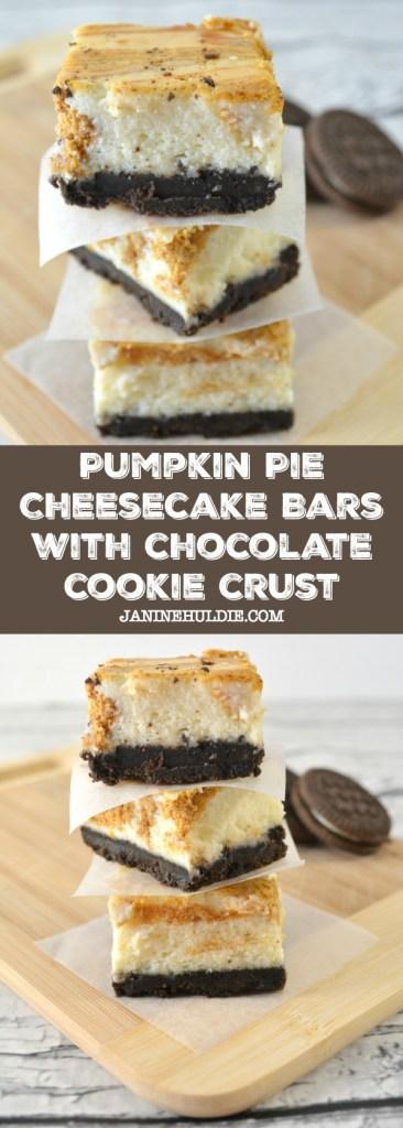 Pumpkin Pie Cheesecake Bars with Chocolate Cookie Crust Recipe