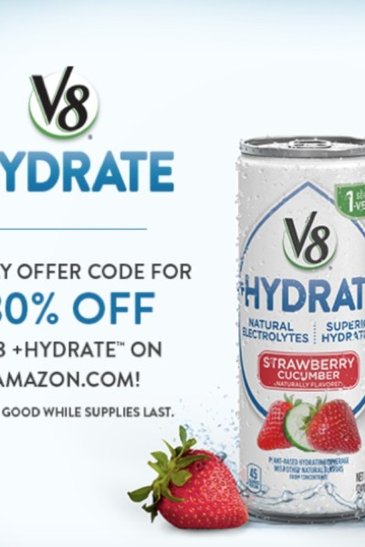 V8 Hydrate Amazon Promo