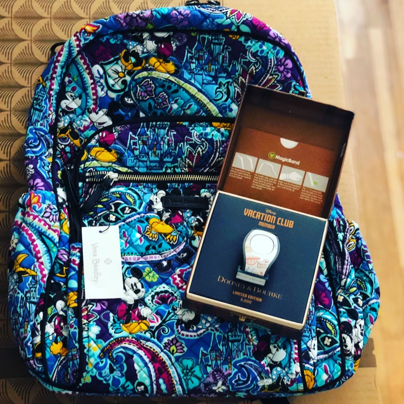 Vera Bradley Mickey Paisley Celebration Backpack and Dooney Bourke Vacation Club Magic Band 2
