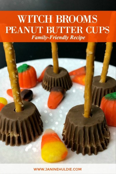 Witch Brooms Peanut Butter Cups Recipe Featured Image